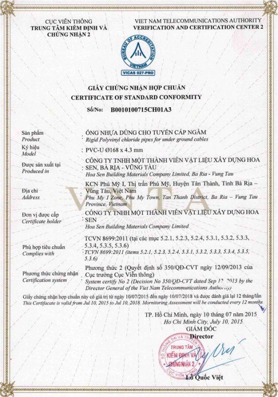 Giay Chung Nhan Hop Chuan Ong Nhua Tcvn8699 Vlxd Phu My 1