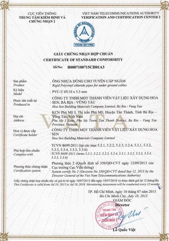 Giay Chung Nhan Hop Chuan Ong Nhua Tcvn8699 Vlxd Phu My 4