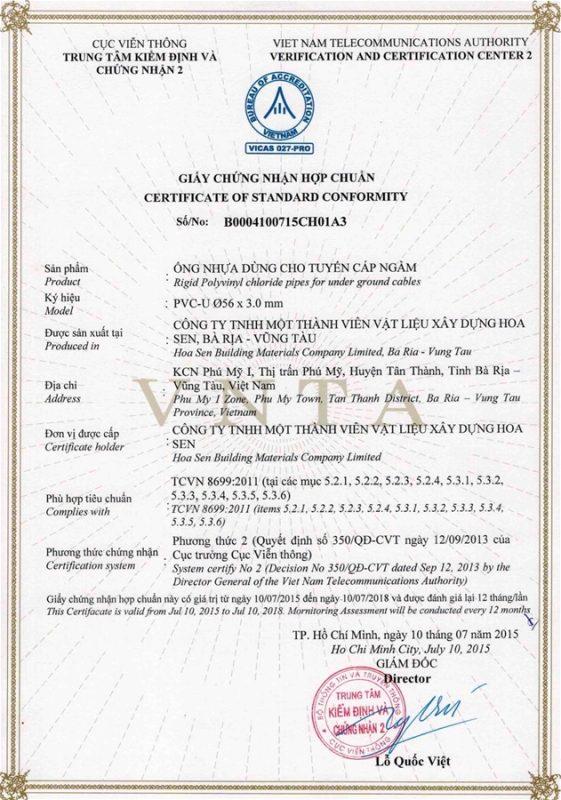 Giay Chung Nhan Hop Chuan Ong Nhua Tcvn8699 Vlxd Phu My 7