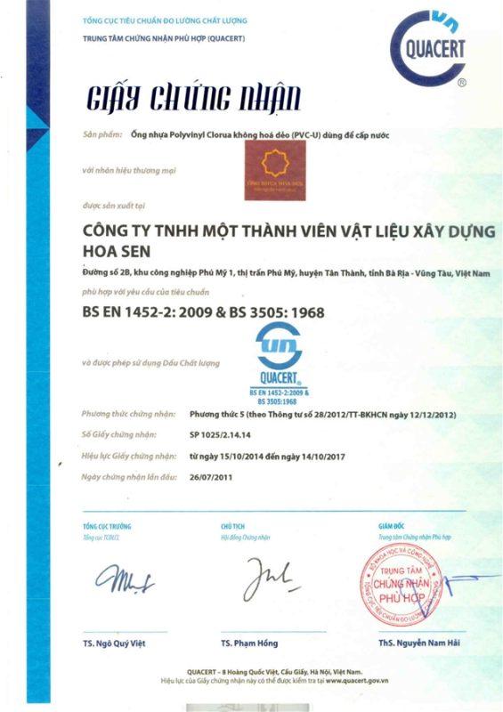 Giay Chung Nhan Hop Chuan Ong Nhua Theo Tieu Chuan Quoc Te Vlxd Phu My 1