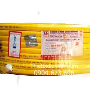 Dây điện Trần Phú, dây đôi mềm dẹt VCm 2x6.0