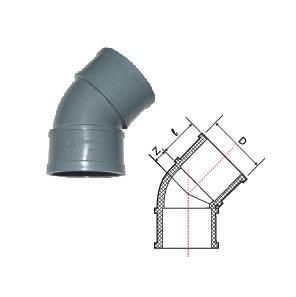 Phụ kiện u.PVC – Cút góc 45° E-E (Sao chép)
