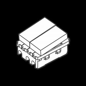 Công tắc kép cỡ trung 2 chiều S18HM/2 - S18HM/CN/2