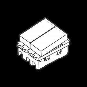 Công tắc kép cỡ trung 1 chiều S18HS/2 - S18HS/CN/2