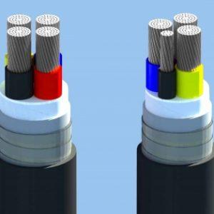 AXV − 0,6/1 kV CÁP ĐIỆN LỰC, RUỘT NHÔM, CÁCH ĐIỆN XLPE, VỎ PVC (Sao chép)